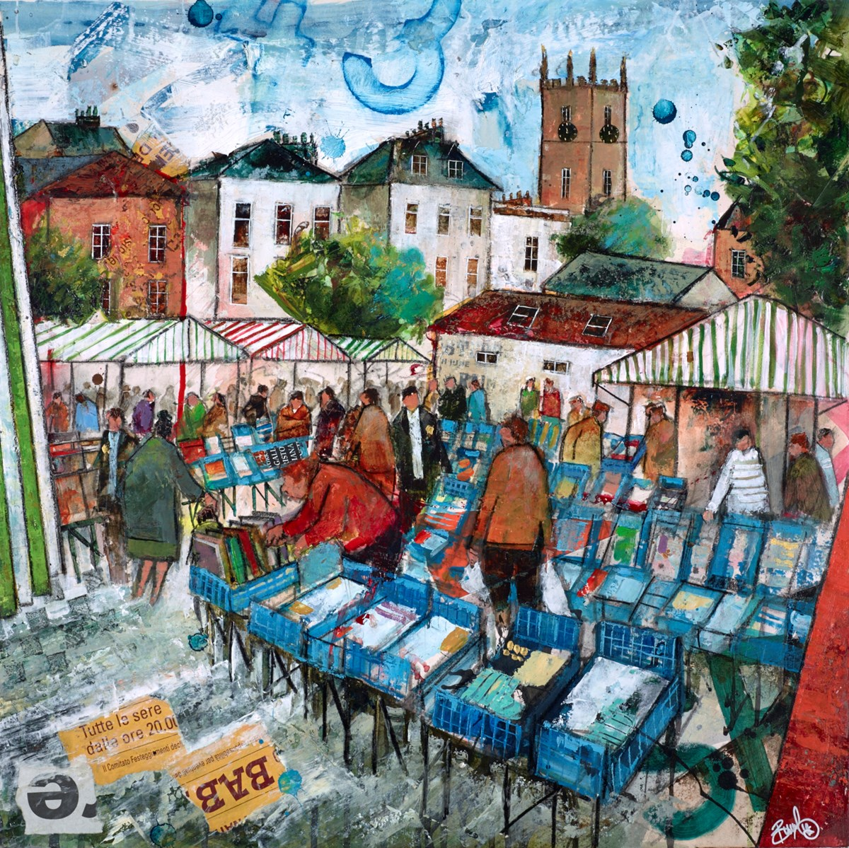 Market Day by richard burel -  sized 20x20 inches. Available from Whitewall Galleries